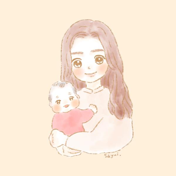 似顔絵ママと女の子