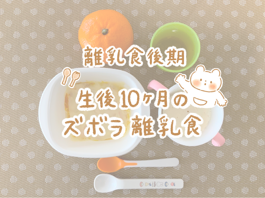 【離乳食後期】生後10ヶ月のズボラ離乳食