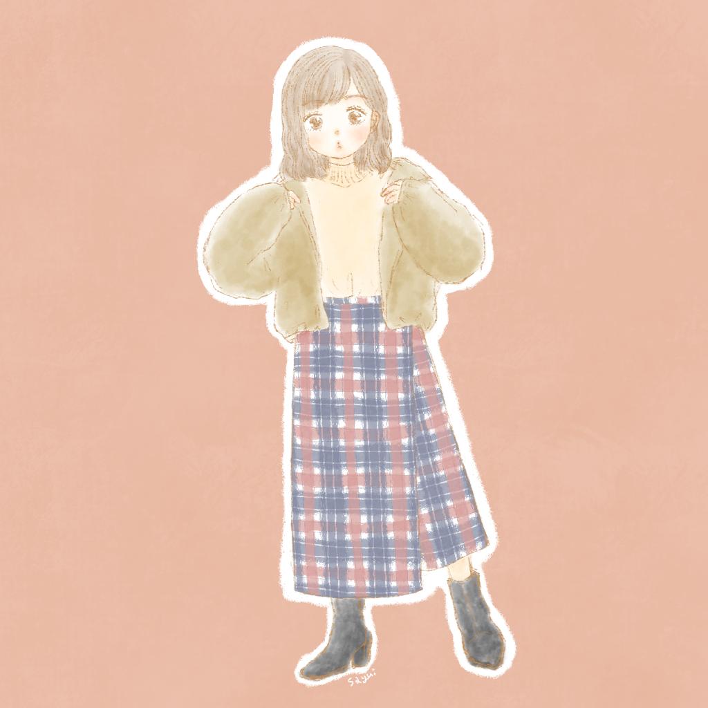 ファッションイラスト女の子