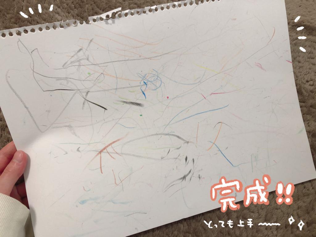 1歳ベビーコロールでお絵描き
