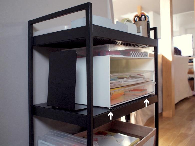 IKEAニッサフォースに子供の工作グッズ収納