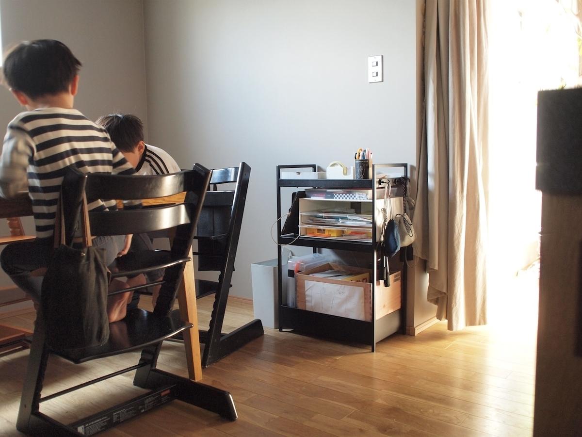 IKEAワゴン ニッサフォース 子供 収納 片付け