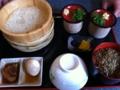 生そうめん・ひしお丼・豚の菊煮・煮玉子