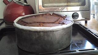 オードリーヘプバーンのチョコレートケーキの画像