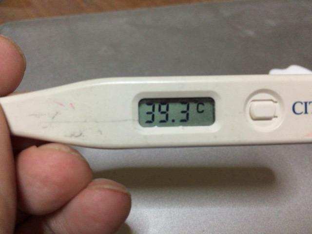 ま]39℃も熱が出たから絶対イン...