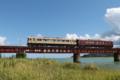 『京都新聞写真コンテスト 由良川橋梁を疾走する丹後あかまつ号その