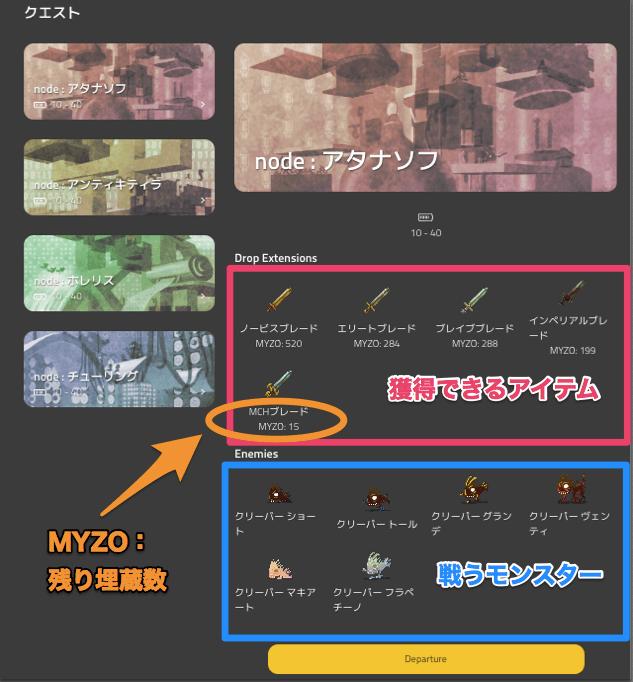 マイクリプトヒーローズ(MyCryptoHeroes) クエスト 遊び方2