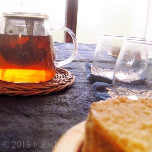 みやざき紅茶とバナナケーキ