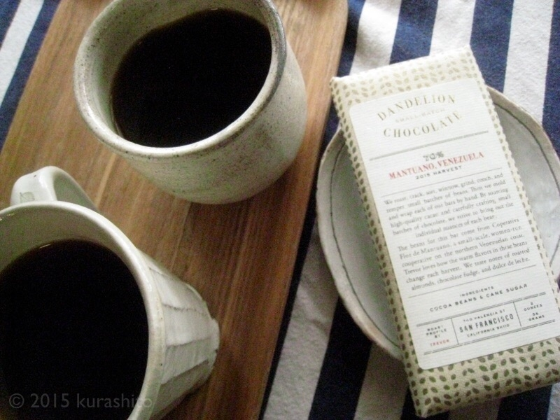 ダンデライオンチョコレートと、サードウェーブコーヒー。