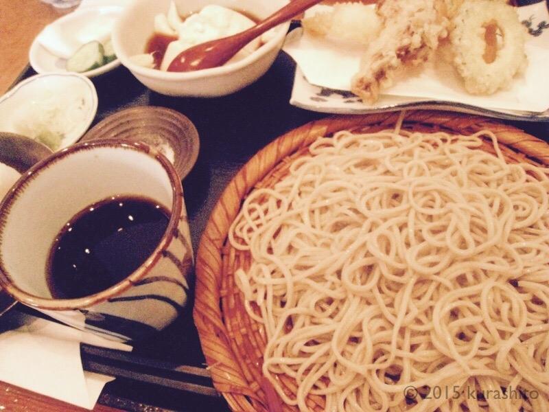 蕎麦御膳、せいろ、1000円。