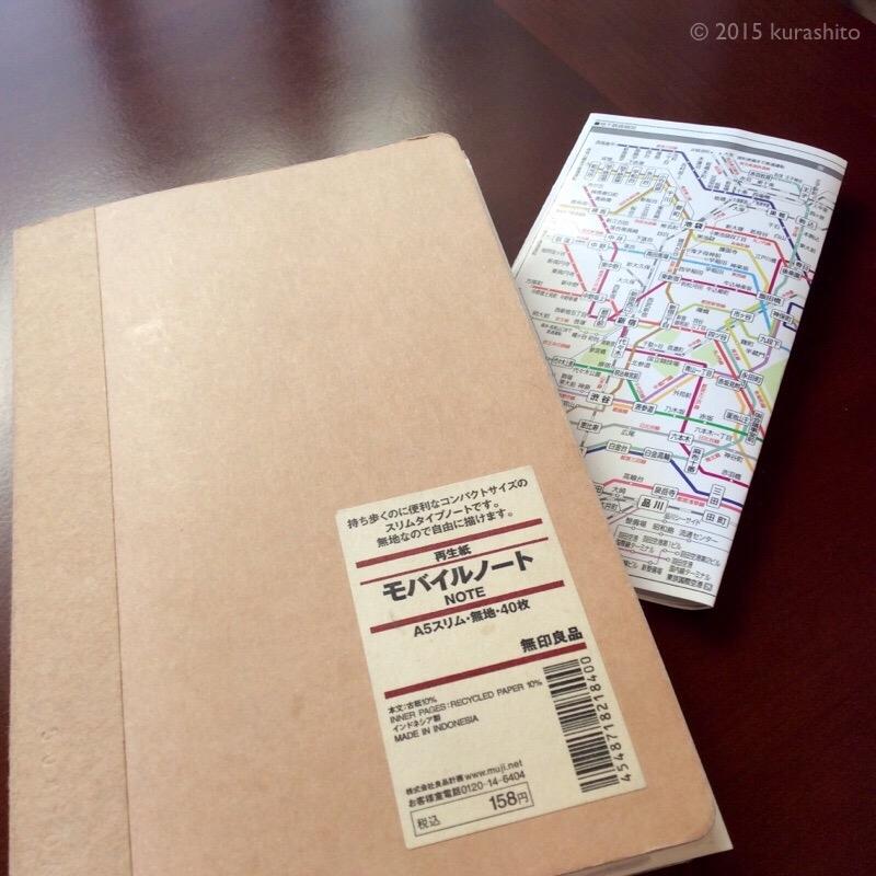 旅行に一冊、無印のモバイルノート