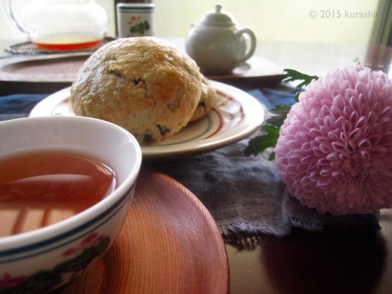 重陽の節句、手作り月餅と中国茶。