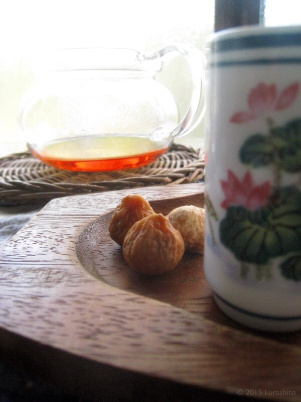 中国茶とドライフィグ