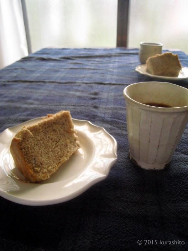 栗の洋風甘露煮と紅茶のシフォンケーキ
