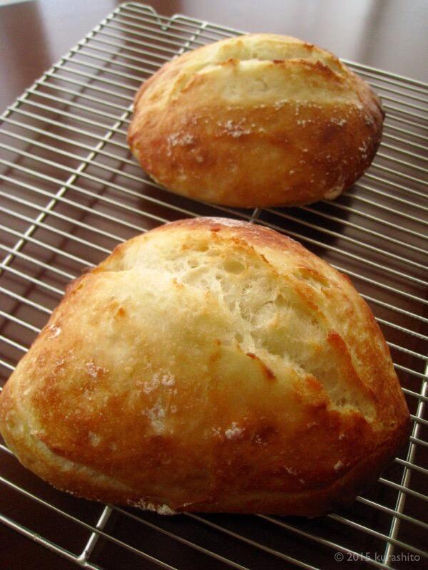 高橋雅子さんの「こねなくても」パン、模索中。