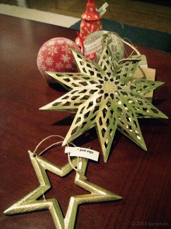 2016年ニコアンドのクリスマス飾り