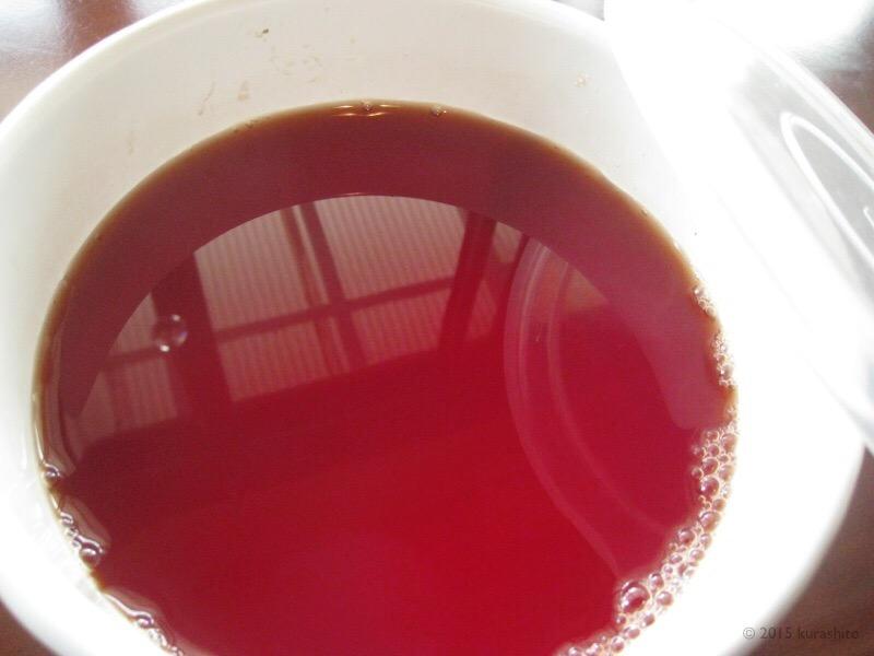 小豆の煮汁、なんてきれいな色!