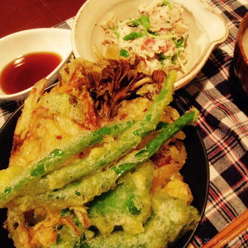 節約大王、野菜天丼