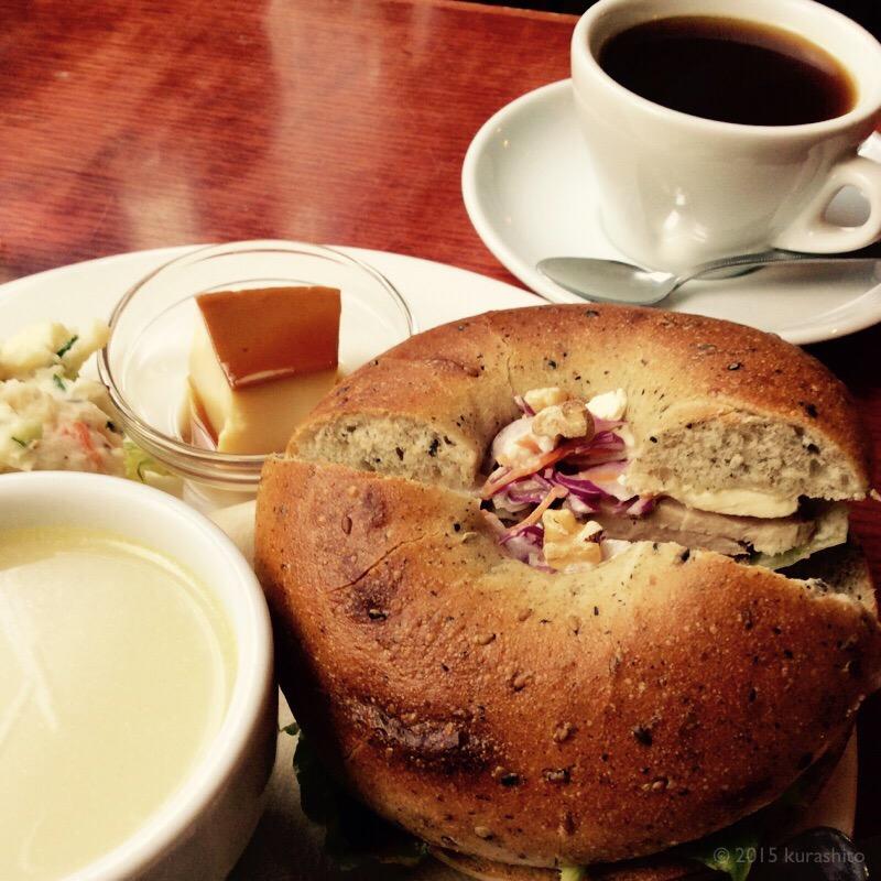 ベーグルサンドのおいしいカフェ