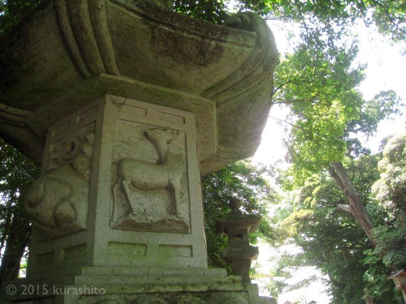 鹿島神宮、鹿の灯篭