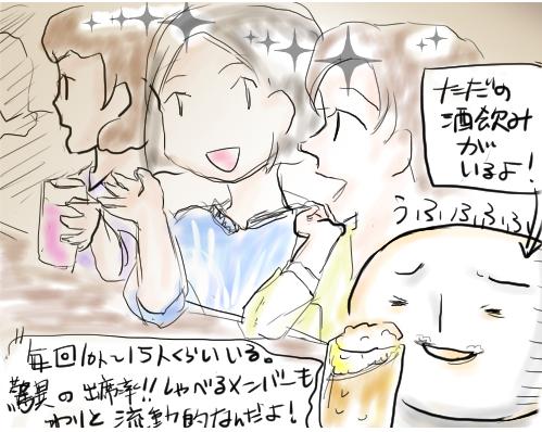 ママ飲み会で生ビール
