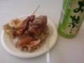 ペルー料理セット500円+ペットボトルのお茶100円