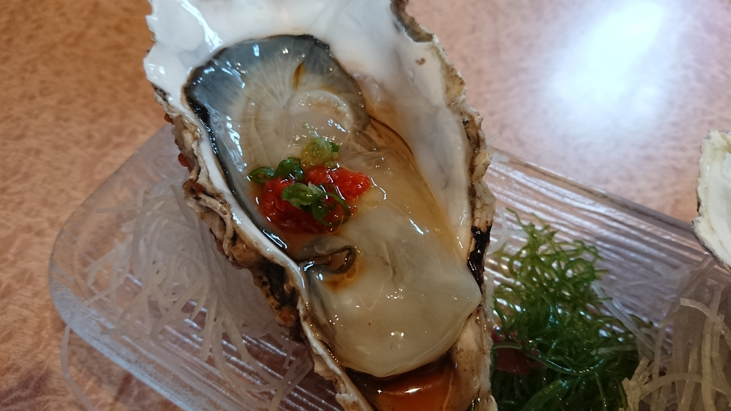 三陸産の生牡蠣