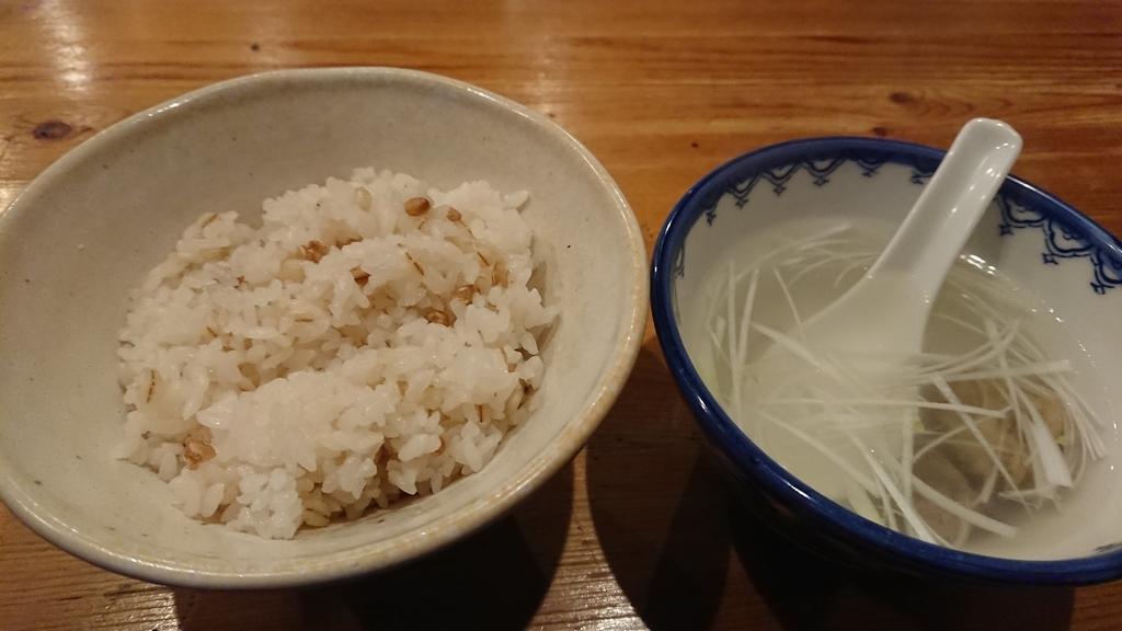 麦飯とテールスープ