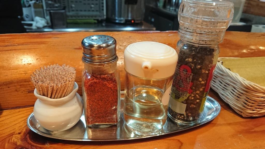 一味と酢と胡椒