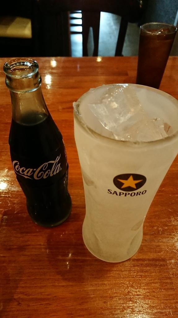 キンキンのグラスとコーラ