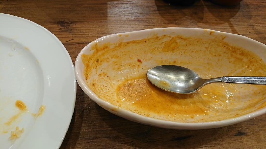 食べ終わったカレー