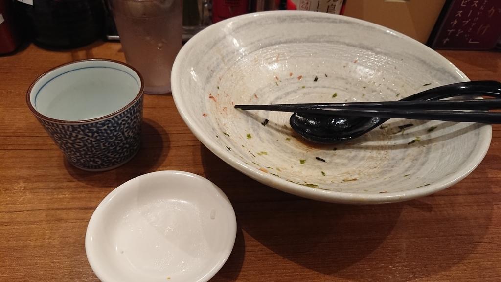 食べ終わった魚がしそば
