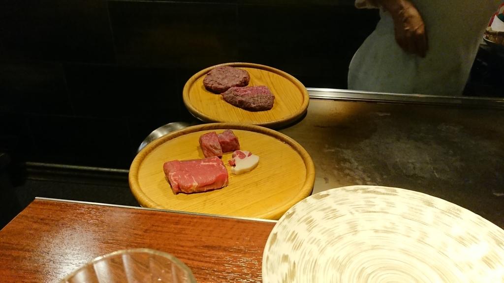 調理前の鉄板焼き