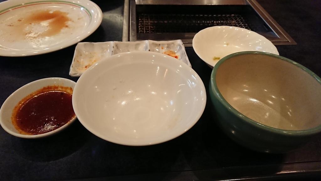 食べ終わった焼肉定食