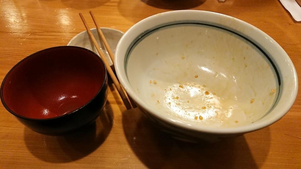 食べ終わった天丼