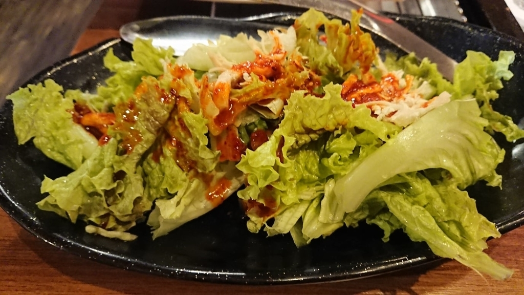 韓国のレタスサラダ