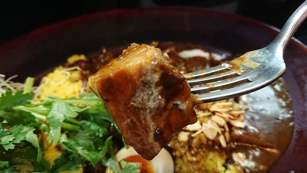 カレーの中の豚肉