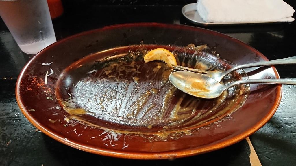 食べ終わったカレーライス