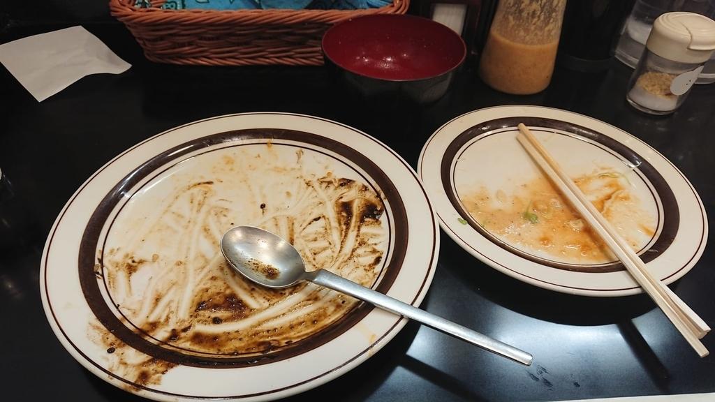 食べ終わった定食