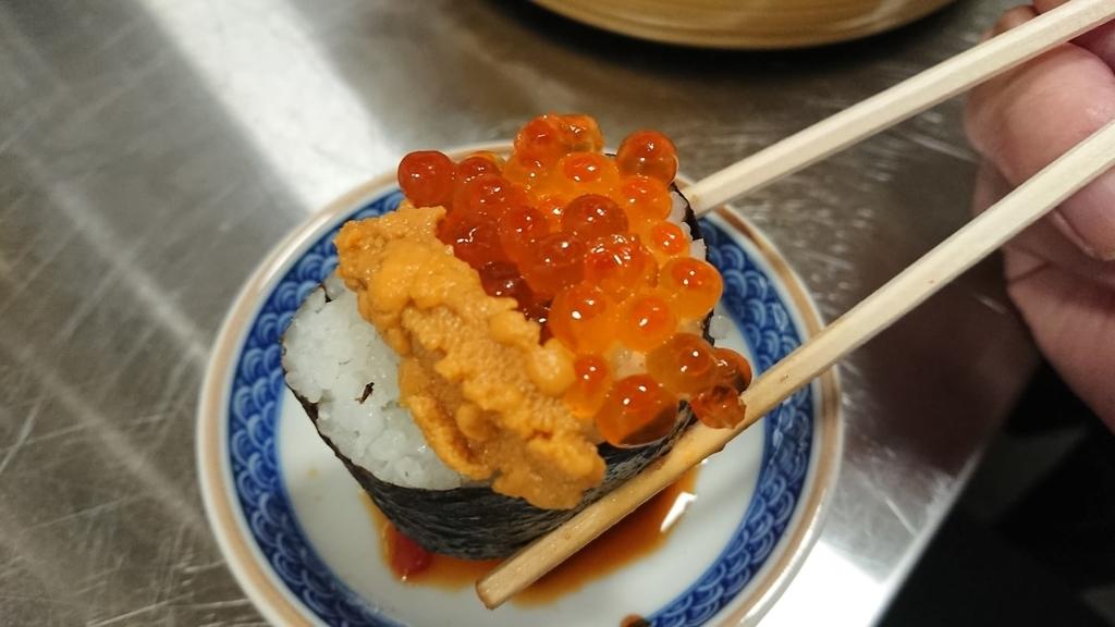 ウニいくら乗っけ寿司