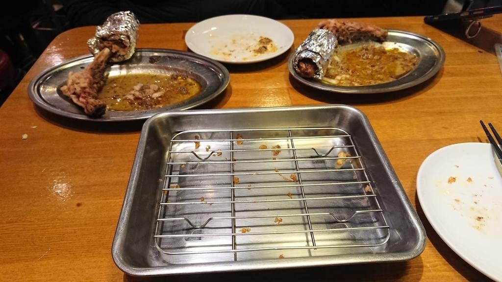 食べ終わったがブリチキンのお皿