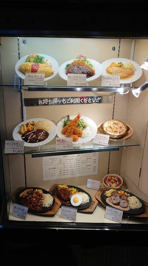 キッチンチェックの入口に置いてある食品サンプル