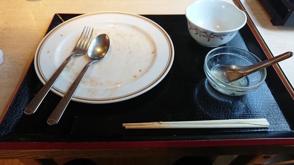 食べ終わったパッタイ定食