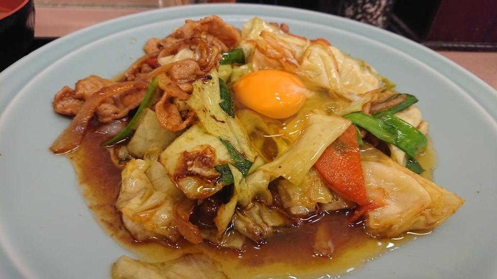 ランチハウスミトヤの野菜とタレの肉焼き