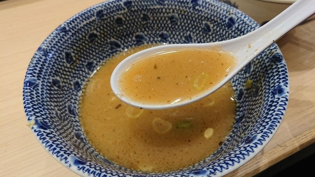 つけ麵のスープ割り
