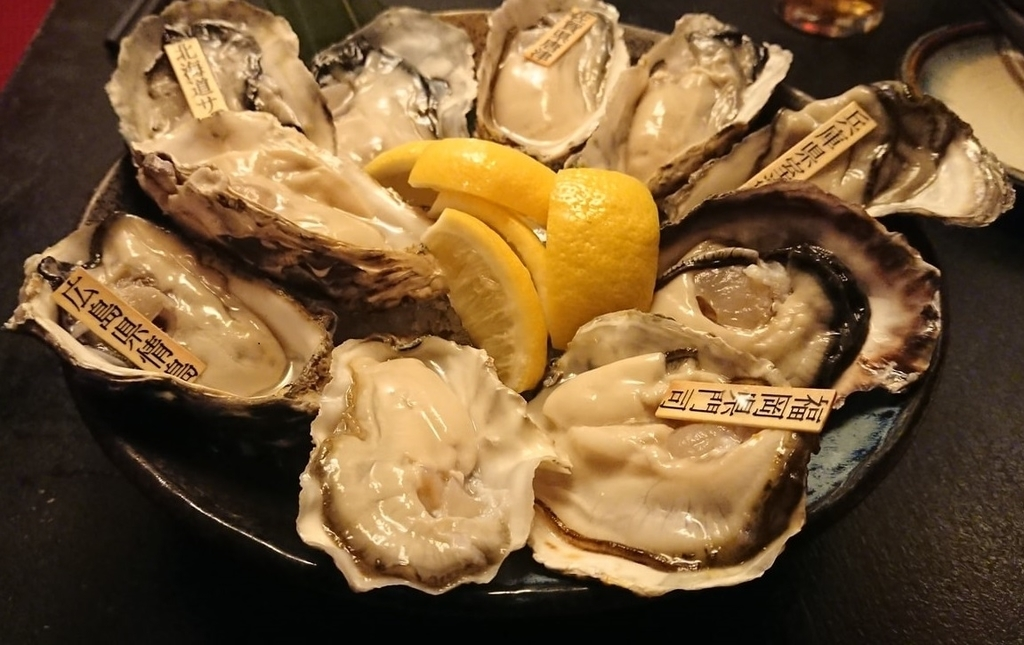 牡蠣と日本酒 四喜のおまかせ生牡蠣10種盛