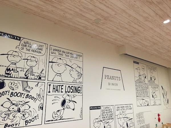スヌーピー ピーナッツダイナー PEANUTS DINER 誕生日 サプライズ brithday バースディ みなとみらい 漫画 原画