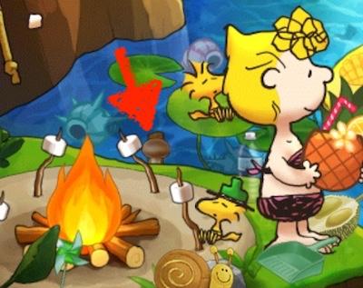 マッシュルーム きのこ クレイジーキャンプサイト イベント スヌーピーライフ  レベル4