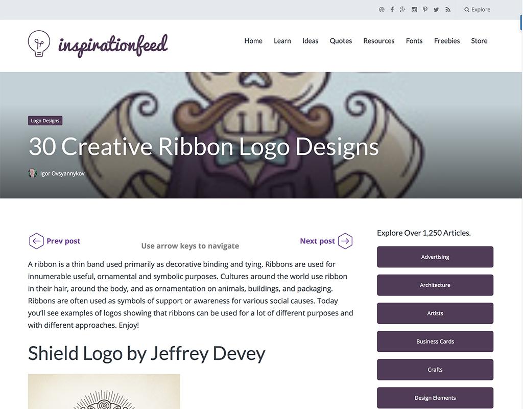 エンブレム長のロゴが豊富の外国のロゴデザイン制作サイト
