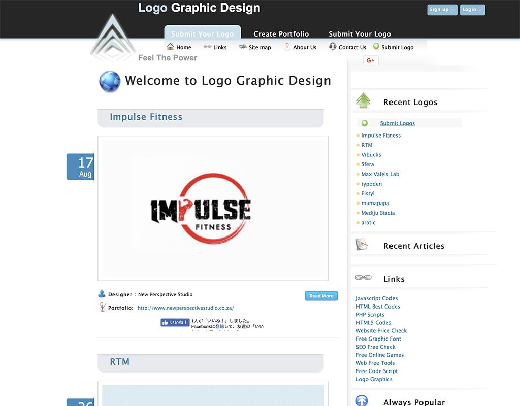 ものすぎ数のロゴが掲載されている世界のポートフォリオサイト
